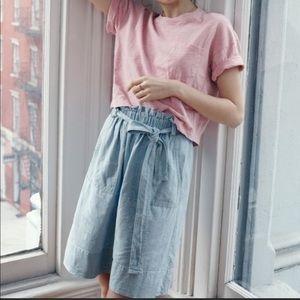 Madewell tie lite chambray skirt small #E8035